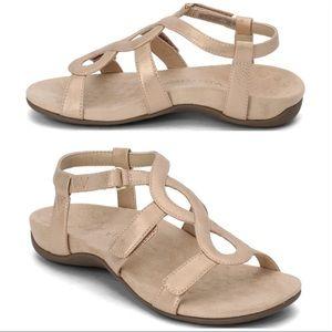 Vionic Rest Jodie Rose Gold sandals Sz 8 & 9